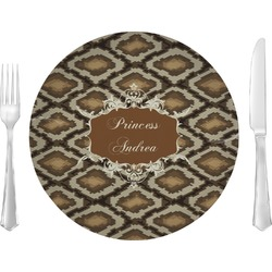 """Snake Skin 10"""" Glass Lunch / Dinner Plates - Single or Set (Personalized)"""