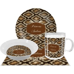 Snake Skin Dinner Set - 4 Pc (Personalized)