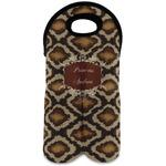Snake Skin Wine Tote Bag (2 Bottles) (Personalized)