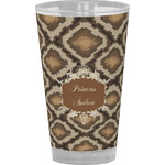 Snake Skin Drinking / Pint Glass (Personalized)