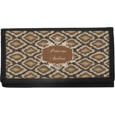 Snake Skin Canvas Checkbook Cover (Personalized)