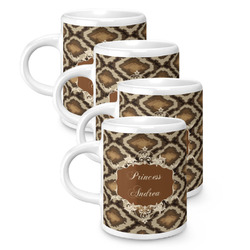 Snake Skin Espresso Mugs - Set of 4 (Personalized)