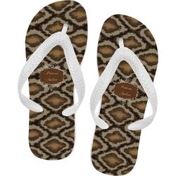 Snake Skin Flip Flops (Personalized)