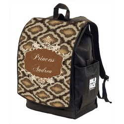 Snake Skin Backpack w/ Front Flap  (Personalized)