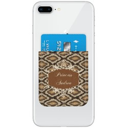 Snake Skin Genuine Leather Adhesive Phone Wallet (Personalized)