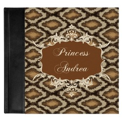 Snake Skin Genuine Leather Baby Memory Book (Personalized)