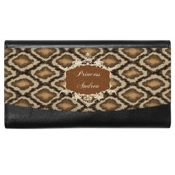 Snake Skin Genuine Leather Ladies Wallet (Personalized)