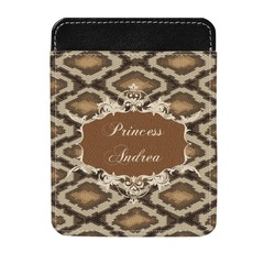 Snake Skin Genuine Leather Money Clip (Personalized)