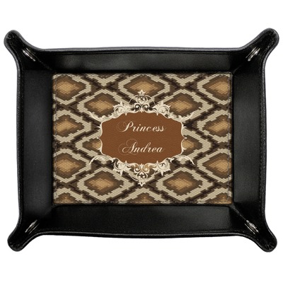 Snake Skin Genuine Leather Valet Tray (Personalized)