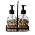 Snake Skin Soap & Lotion Dispenser Set (Glass) (Personalized)