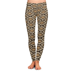 Snake Skin Ladies Leggings - Large (Personalized)