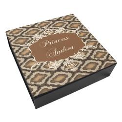 Snake Skin Leatherette Keepsake Box - 3 Sizes (Personalized)