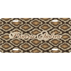 Snake Skin Front License Plate (Personalized)
