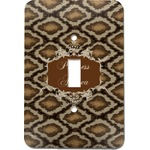 Snake Skin Light Switch Cover (Single Toggle) (Personalized)