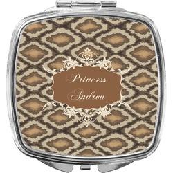 Snake Skin Compact Makeup Mirror (Personalized)