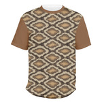 Snake Skin Men's Crew T-Shirt (Personalized)