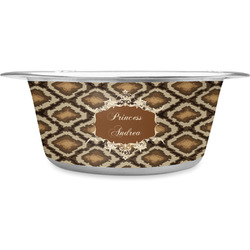 Snake Skin Stainless Steel Pet Bowl (Personalized)