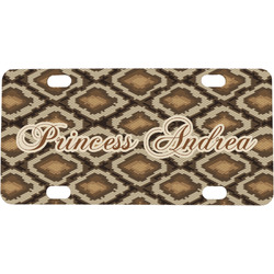 Snake Skin Mini / Bicycle License Plate (Personalized)