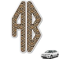 Snake Skin Monogram Car Decal (Personalized)
