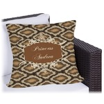 Snake Skin Outdoor Pillow (Personalized)