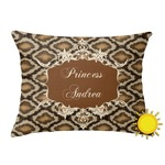 Snake Skin Outdoor Throw Pillow (Rectangular) (Personalized)