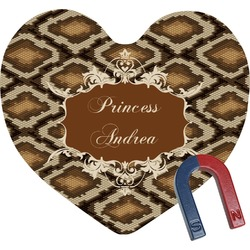 Snake Skin Heart Fridge Magnet (Personalized)