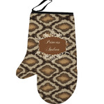 Snake Skin Left Oven Mitt (Personalized)