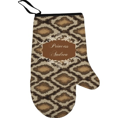 Snake Skin Right Oven Mitt (Personalized)