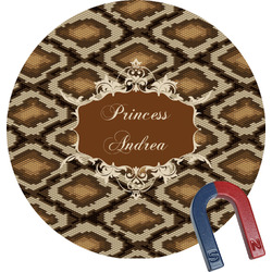 Snake Skin Round Fridge Magnet (Personalized)