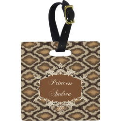 Snake Skin Square Luggage Tag (Personalized)