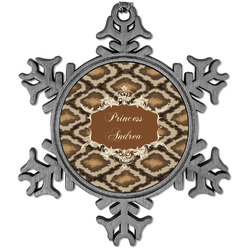 Snake Skin Vintage Snowflake Ornament (Personalized)