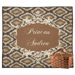 Snake Skin Outdoor Picnic Blanket (Personalized)
