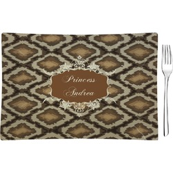 Snake Skin Glass Rectangular Appetizer / Dessert Plate - Single or Set (Personalized)