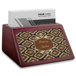 Snake Skin Red Mahogany Business Card Holder (Personalized)