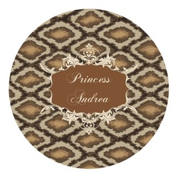 Snake Skin Round Decal (Personalized)