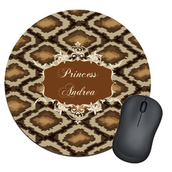 Snake Skin Round Mouse Pad (Personalized)