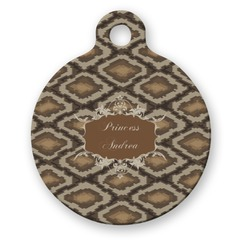 Snake Skin Round Pet Tag (Personalized)