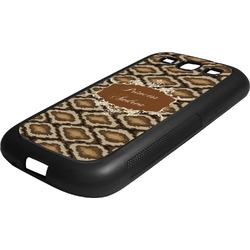 Snake Skin Rubber Samsung Galaxy 3 Phone Case (Personalized)