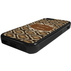 Snake Skin Rubber iPhone 5C Phone Case (Personalized)