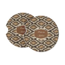 Snake Skin Sandstone Car Coasters (Personalized)