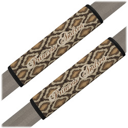 Snake Skin Seat Belt Covers (Set of 2) (Personalized)