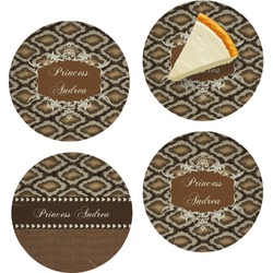 Snake Skin Set of Appetizer / Dessert Plates (Personalized)