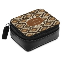 Snake Skin Small Leatherette Travel Pill Case (Personalized)