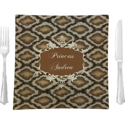 Snake Skin Square Dinner Plate (Personalized)