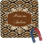 Snake Skin Square Fridge Magnet (Personalized)