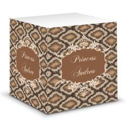 Snake Skin Sticky Note Cube (Personalized)