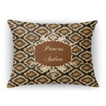 Snake Skin Rectangular Throw Pillow Case (Personalized)