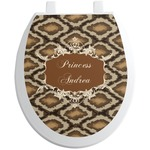 Snake Skin Toilet Seat Decal (Personalized)