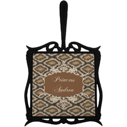 Snake Skin Trivet with Handle (Personalized)