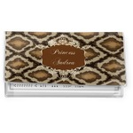 Snake Skin Vinyl Checkbook Cover (Personalized)